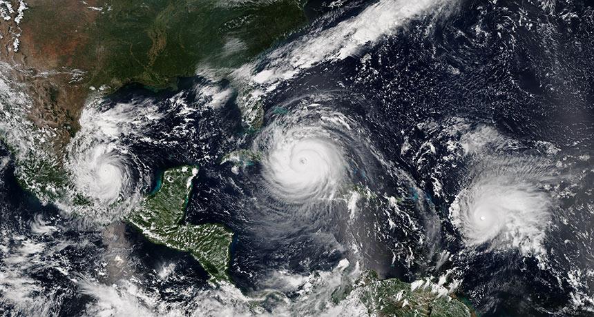 hurricane satellite image