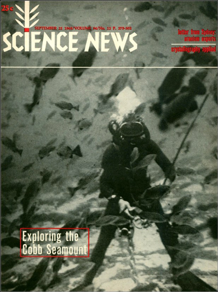 Science News cover from Sept. 21, 1968