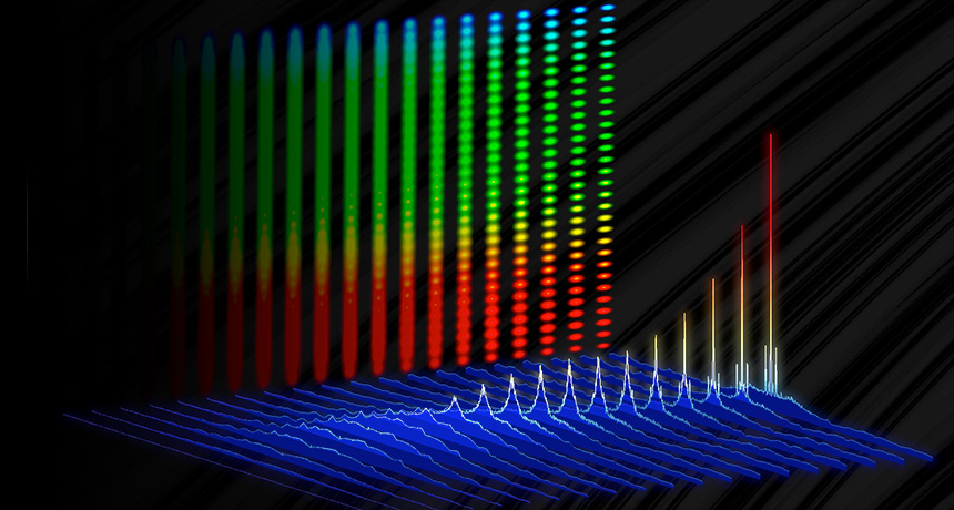 frequency comb made of discrete colors of light