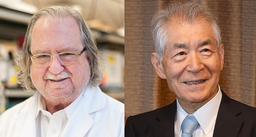 James Allison and Tasuku Honjo