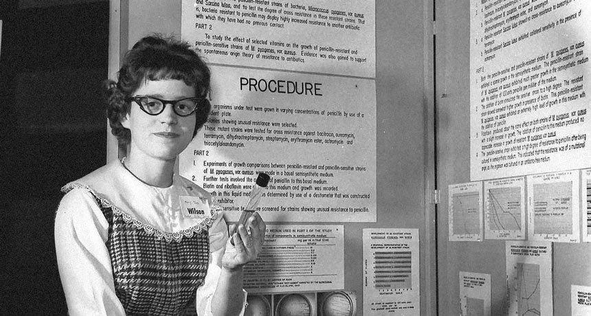 Mary Sue Coleman in 1961