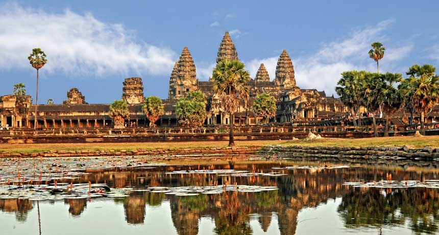 a photo of Angkor Wat temple