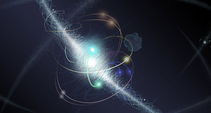 illustration of an electron