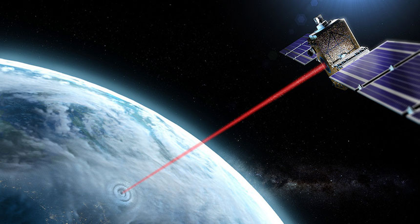 Laser satellite illustration