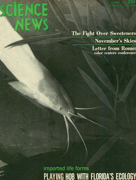 Science News cover from October 26, 1968