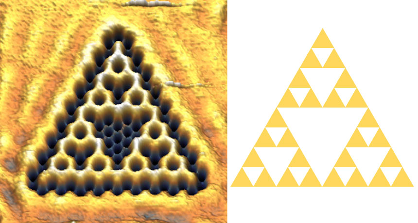 Sierpinski triangle and quantum fractal