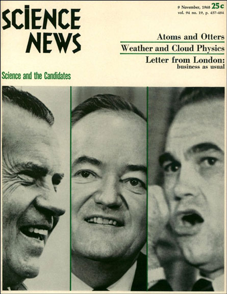 Science News cover from November 9, 1968