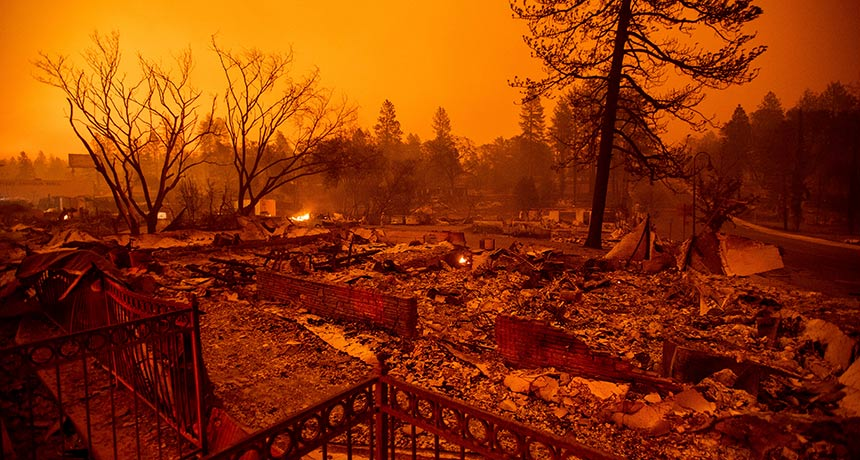 Camp Fire destruction in California