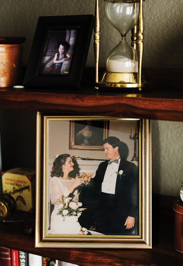 Martha and John Carlin at their 1995 wedding
