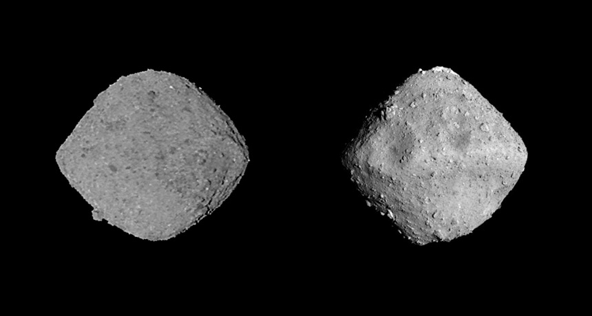 asteroids bennu and ryugu