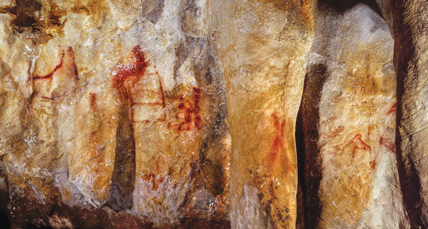 painting on cave walls in Spain