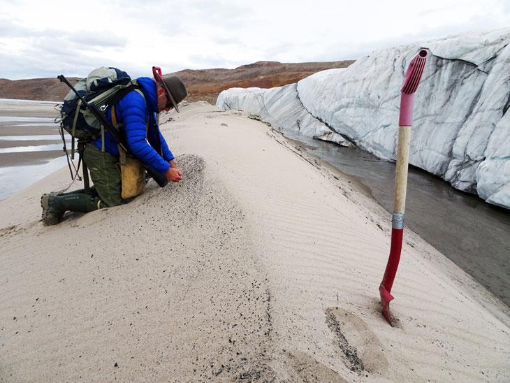 glacier sampling