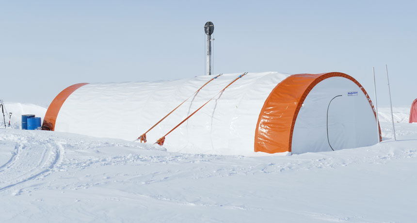 British Antarctic Survey's Skytrain Ice Rise site