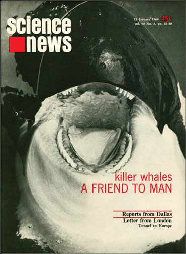 Science News cover from January 18, 1969
