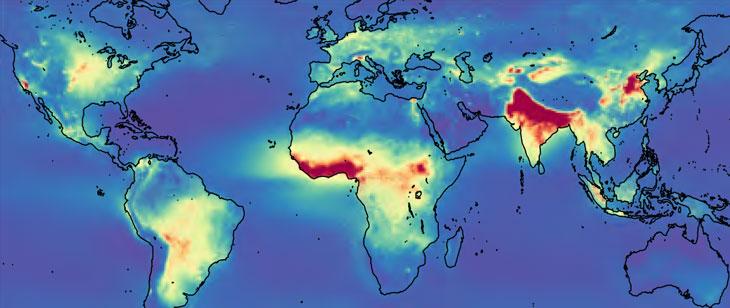 ammonia emissions map