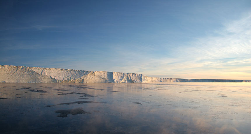 a photo of the Stange ice shelf