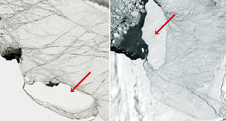 larsen c and iceberg A68