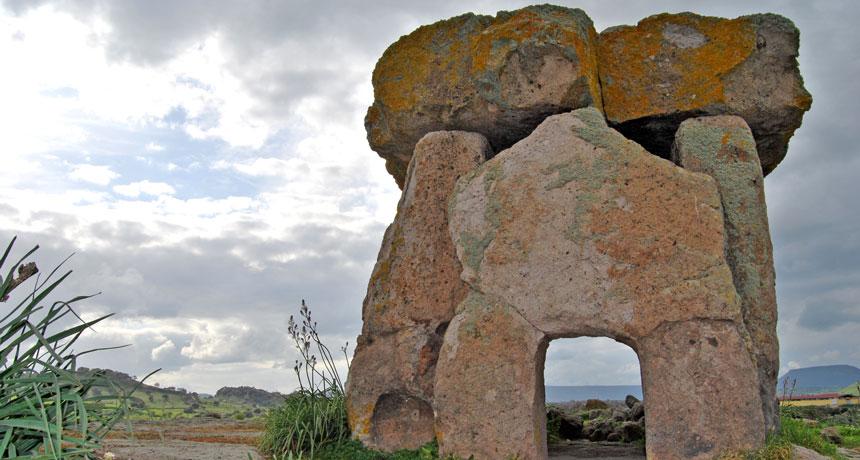 stone megalith in Sardinia