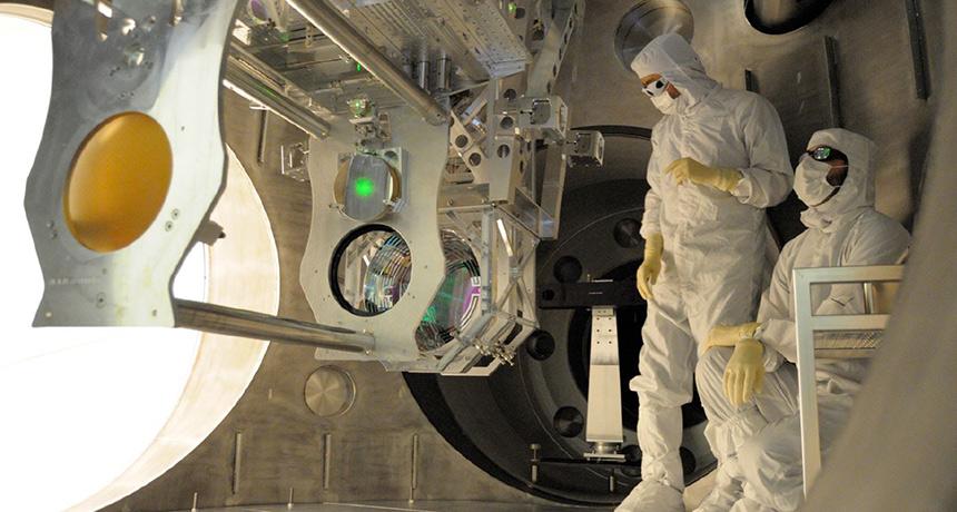 scientists working on LIGO