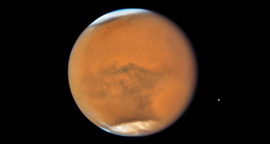 Mars ice caps