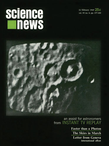 Science News cover from February 22, 1969