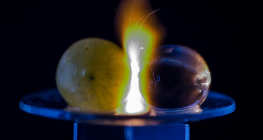 exploding grape