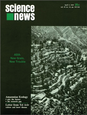 Science News cover from April 5, 1969