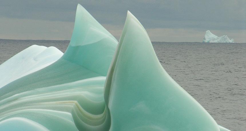green icebergs