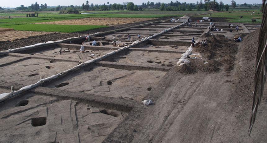 Hyksos palace ruins