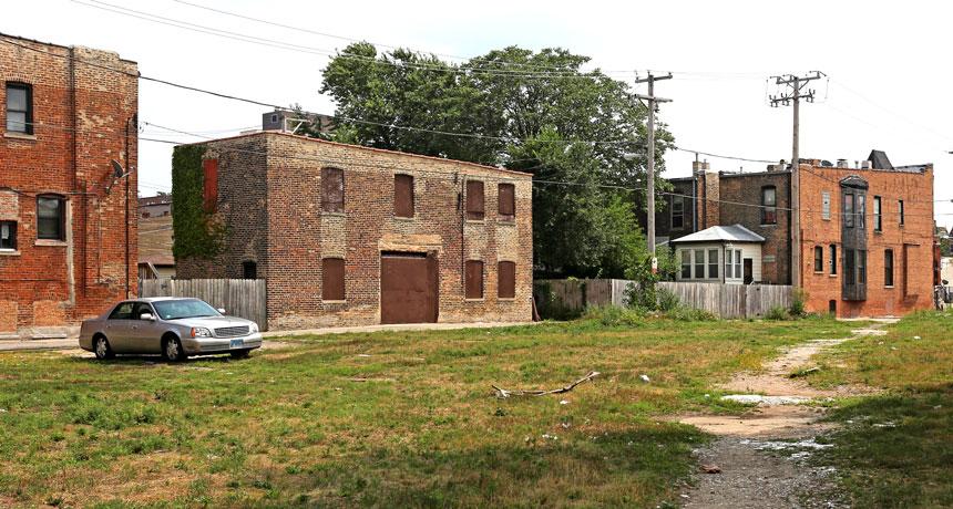 a photo of a low-income neighborhood