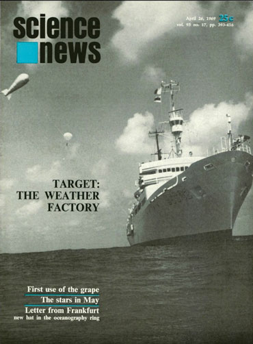 Science News cover from April 26, 1969