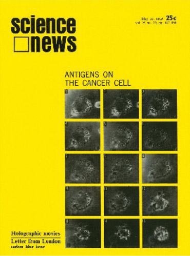 Science News cover from May 10, 1969
