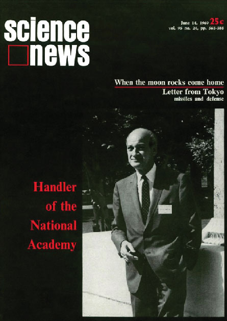 Science News cover from June 14, 1969