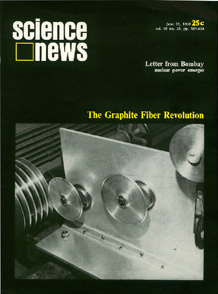 Science News cover from June 21, 1969