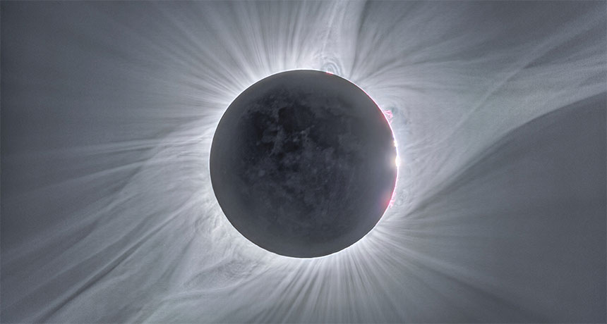 composite image of 2017 total solar eclipse