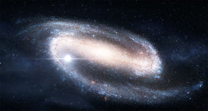 an illustration of a distant galaxy