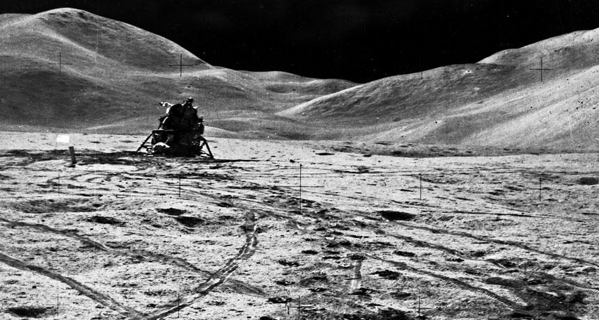 Apollo astronauts left trash, mementos and experiments on