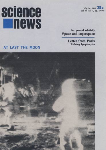 the July, 26, 1969 cover of Science News