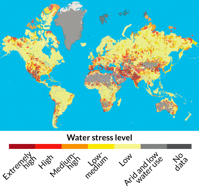 water stress map