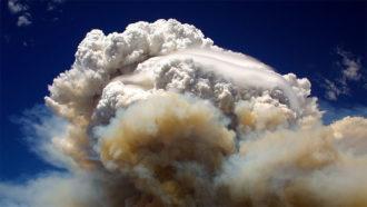 Pyrocumulonimbus clouds