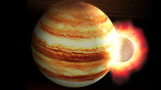 Jupiter collision illustration