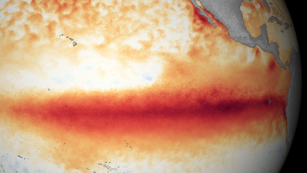 a map showing El Niño over the Pacific Ocean