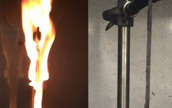 Resin on fire vs. not on fire
