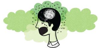 strep virus brain illustration