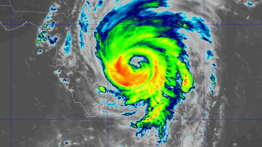 Hurricane Dorian radar image