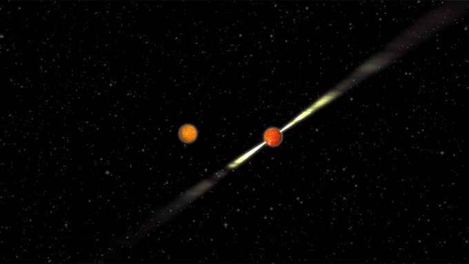 pulsar orbiting neutron star