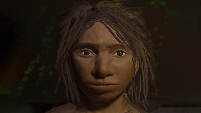 Denisovan girl drawing