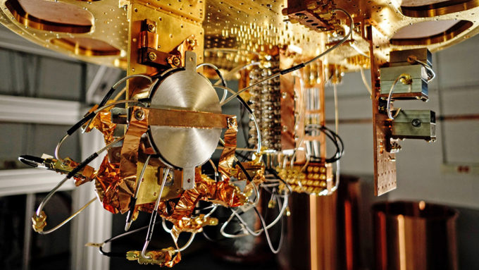 dilution refrigerator used to cool quantum processors