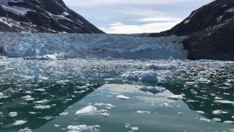 tidewater glacier Greenland