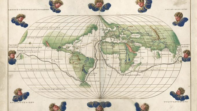 map of Magellan's route